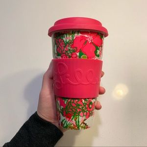 Lily Pulitzer ceramic travel mug!